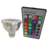 Lâmpada MR16 RGB Led - SYM-MR16-RGB1x3W-A1