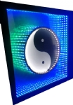Infinity Led Frame Mirror - Yin Yang - Taoísmo